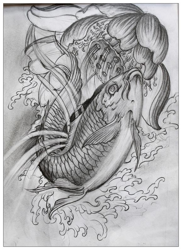 纹身精美手绘图片